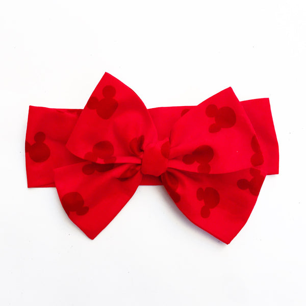 Red Head Minnie Mouse Head Wrap