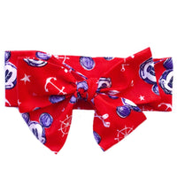 Red Sailor Mickey & Minnie Head Wrap