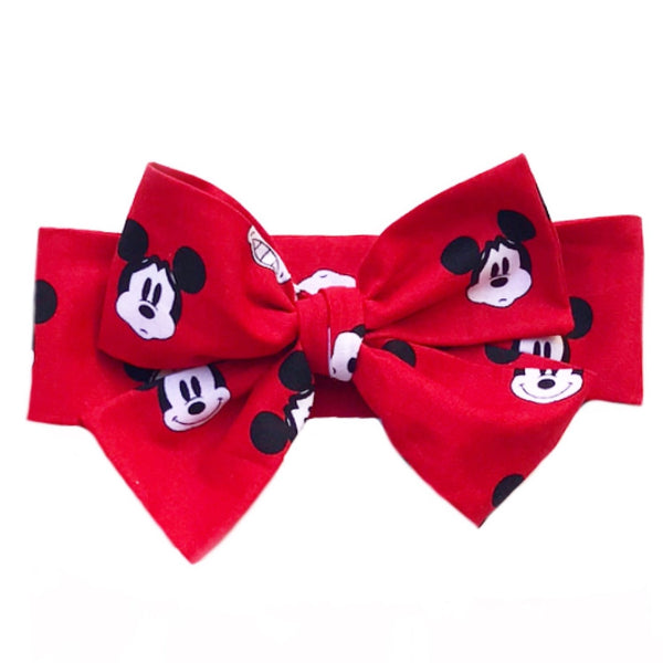 Red MICKEY Faces Head Wrap