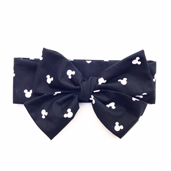 Black Tiny Minnie Head Wrap