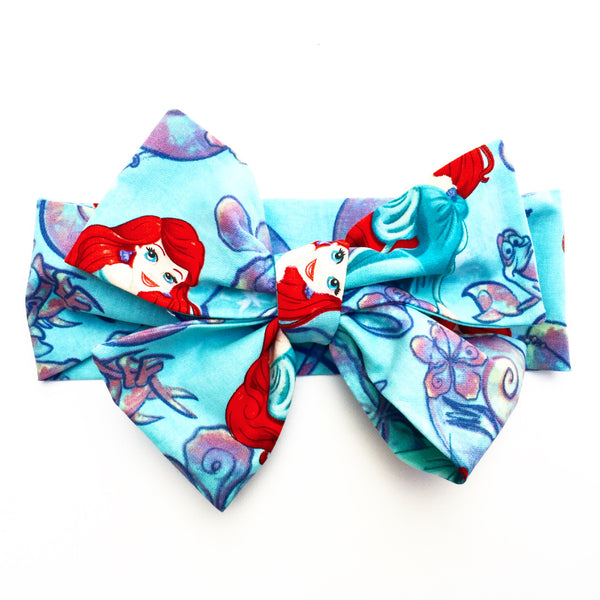 Teal Sea Shell Ariel Head Wrap