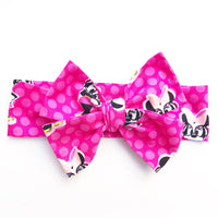 Miss Minnie Hot Pink Dot Head Wrap