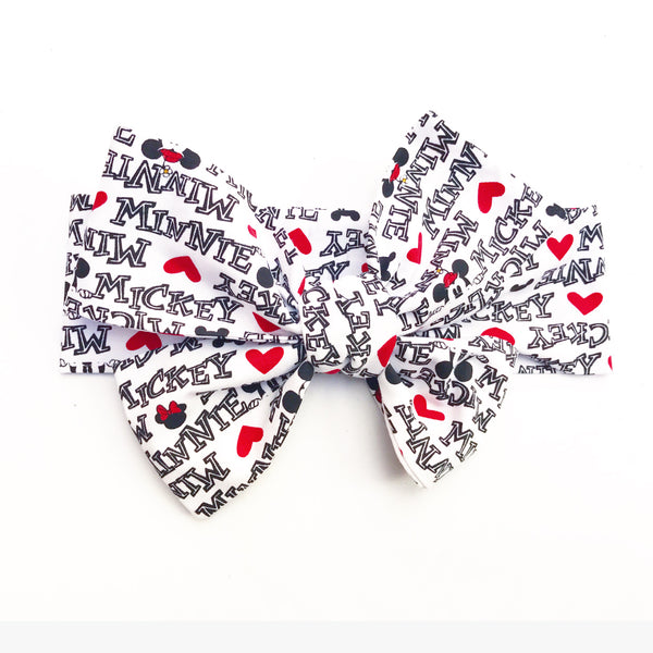 Minnie & Mickey Names Head Wrap