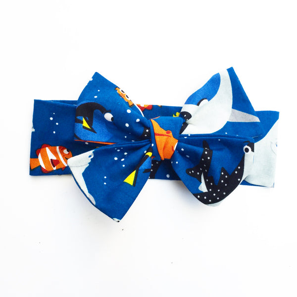 Navy Finding Dory Head Wrap