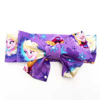 Purple Anna & Elsa Head Wrap