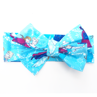 Blue Snowflake Anna & Elsa Head Wrap