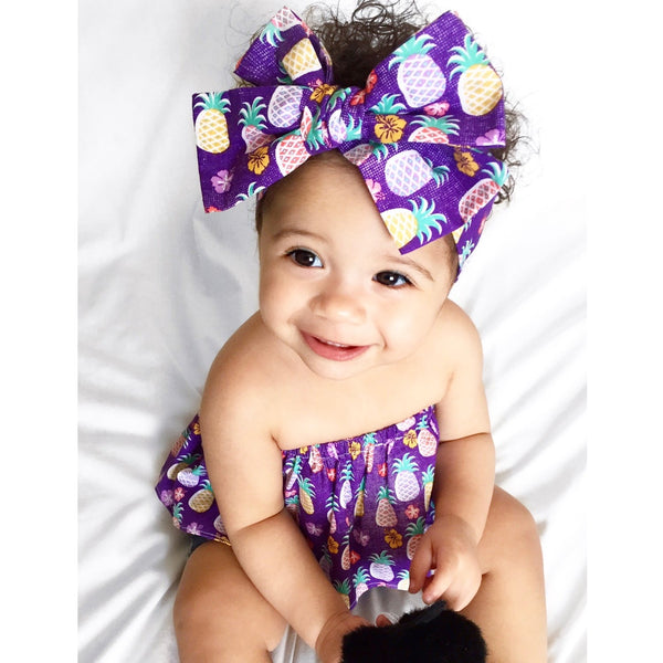 Purple Pineapple Crop Top