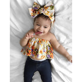 Autumn Floral Crop Top