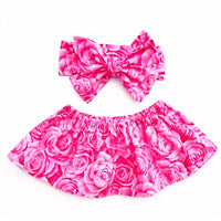 Hot Pink Roses Crop Top