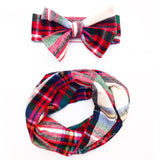 Christmas Plaid Infinity Scarf