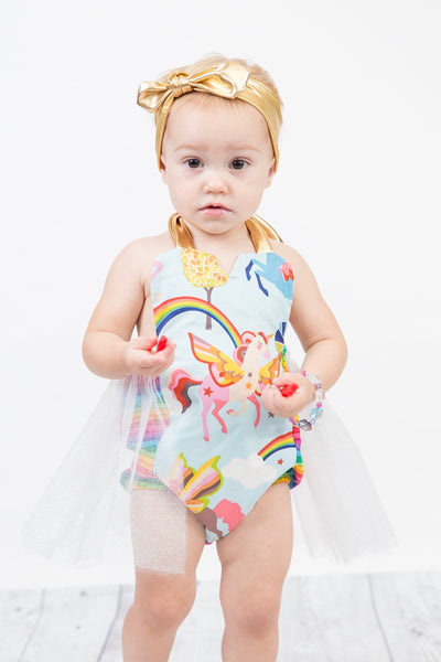 Rainbows & Unicorns Tulle Romper