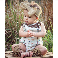 Aztec Arrow Fringe Bubble Romper