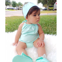 Seafoam Solid Bubble Romper