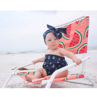 Navy Anchor Strapless Romper