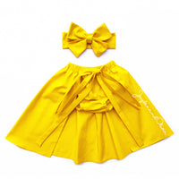 Yellow Canary Cape Skirt