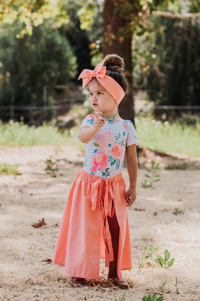 Coral Cape Skirt
