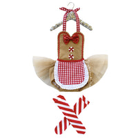 Red Gingerbread Girl Romper