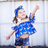 Los Angeles Dodgers Flutter Sleeve Top