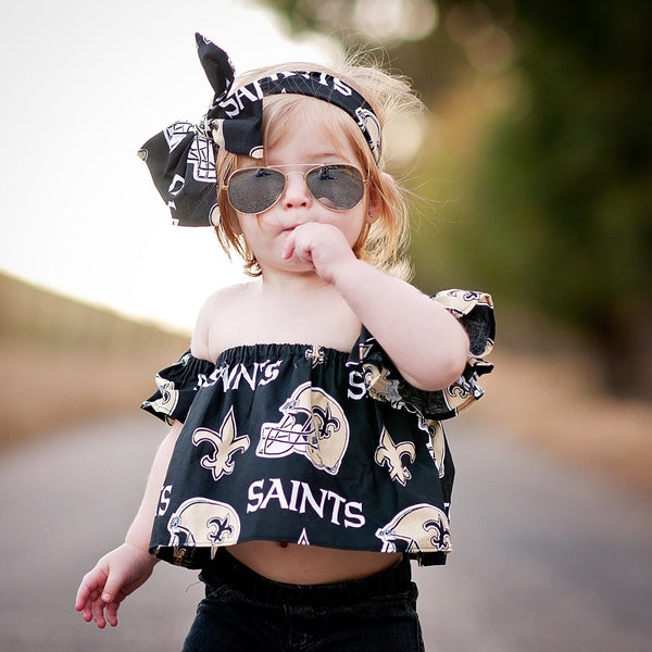 New Orleans Saints Flutter Sleeve Top