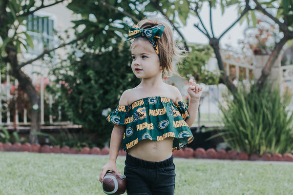 Green Bay Packers Flutter Sleeve Top
