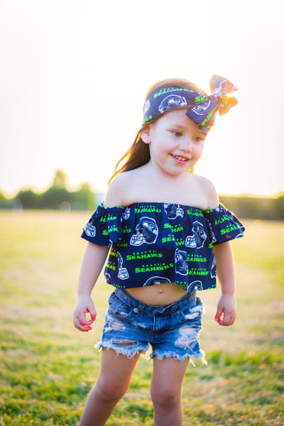 Seattle Seahawks Flutter Sleeve Top