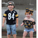 Pittsburgh Steelers Flutter Sleeve Top
