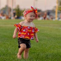 Kansas City Chiefs Flutter Sleeve Top