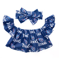 Tennessee Titans Flutter Sleeve Top