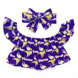 Minnesota Vikings Flutter Sleeve Top