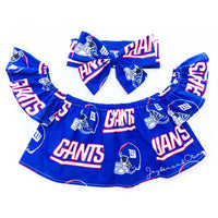 NY Giants Flutter Sleeve Top
