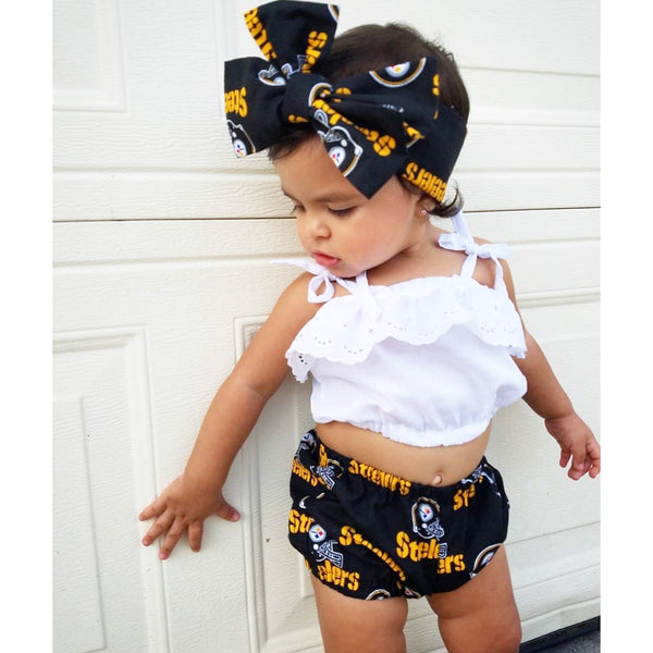 Black Steelers Bubble Shorts