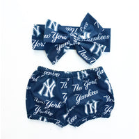 Navy New York Yankees Bubble Shorts