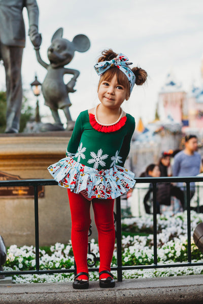 Blue Christmas Minnie & Mickey Bloomer Skirt