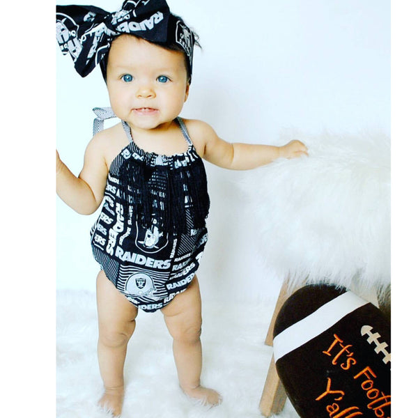 Raiders Fringe Bubble Romper