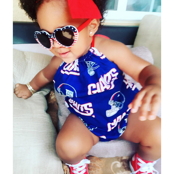 New York Giants Bubble Romper