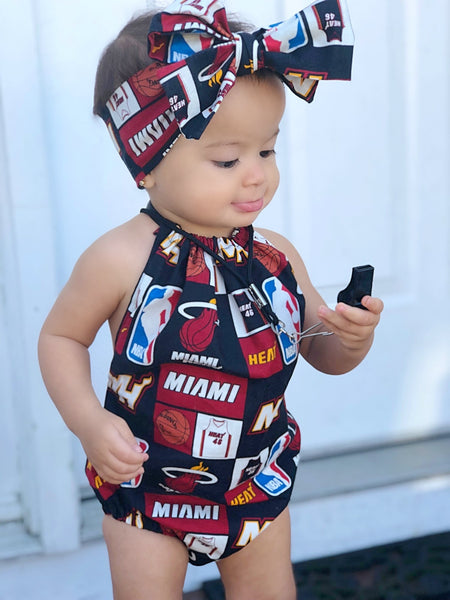 Miami Heat Bubble Romper