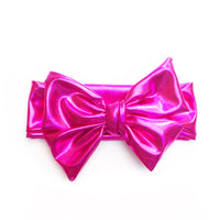 Hot Pink Metallic Head Wrap