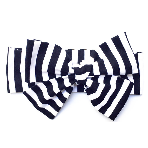 Black & White Med Stripe Head Wrap