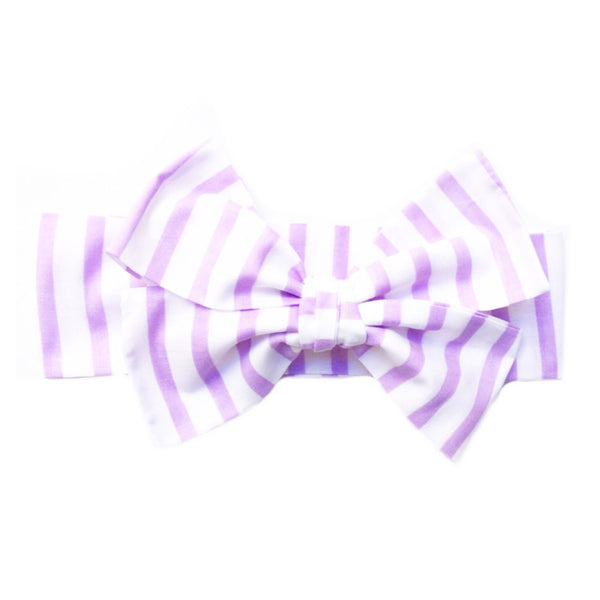 Lavender Stripe Head Wrap