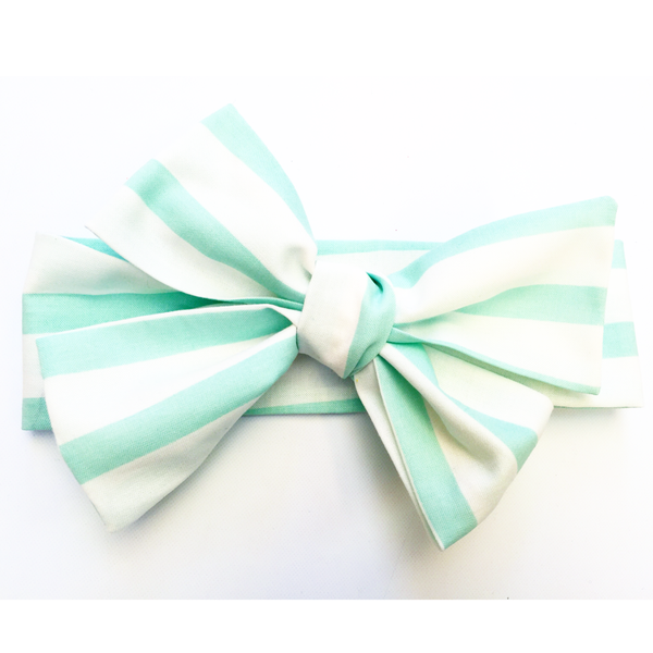 Mint Stripe Head Wrap