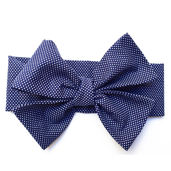 Navy Tiny Dot Head Wrap
