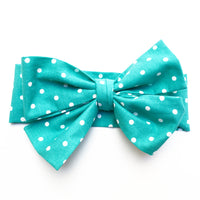 Teal Tiny Polka Dot Head Wrap