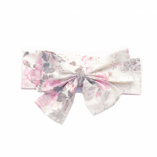 Ivory & Pink Shabby Chic Head Wrap