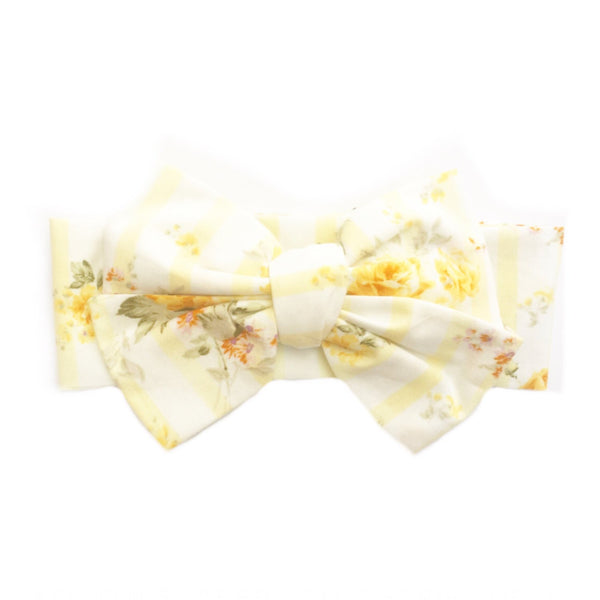 Yellow Shabby Chic Stripe Head Wrap