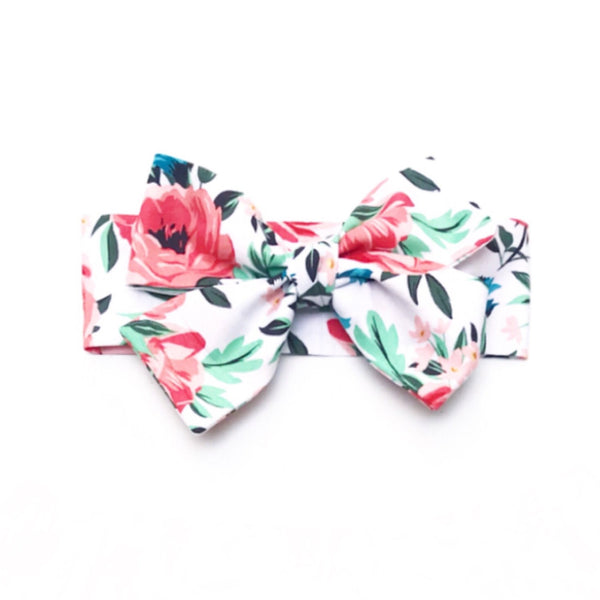 Coral Summer Floral Head Wrap