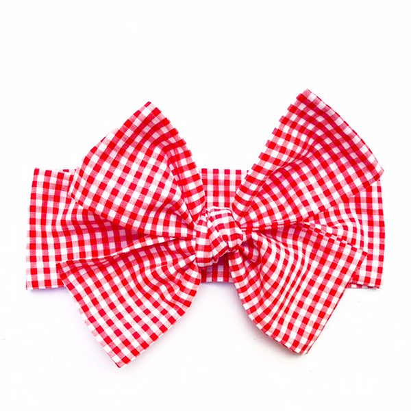 Tiny Red Gingham Head Wrap