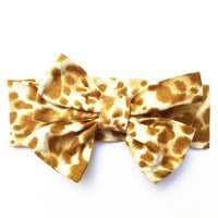 Tan Cheetah Head Wrap