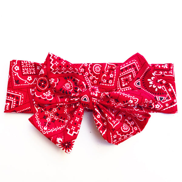 Red Rodeo Head Wrap