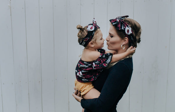 Arizona Cardinals Mommy & Me Head Wrap SET