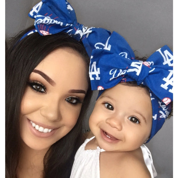Los Angeles DODGERS Mommy & Me Head Wrap SET